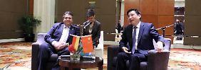 Mit großem Gefolge in Peking: Gabriel will China als Markt erobern