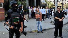 Polizeipräsenz in der Hauptstadt Kairo
