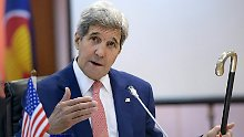 Ärger mit China beim Asean-Treffen: Kerry stützt sich auf Kennedys Krückstock