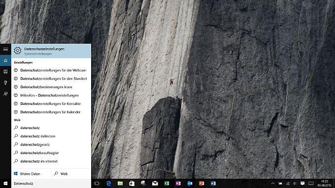 Nutzer sollten sich für die Datenschutzeinstellungen in Windows 10 Zeit nehmen.