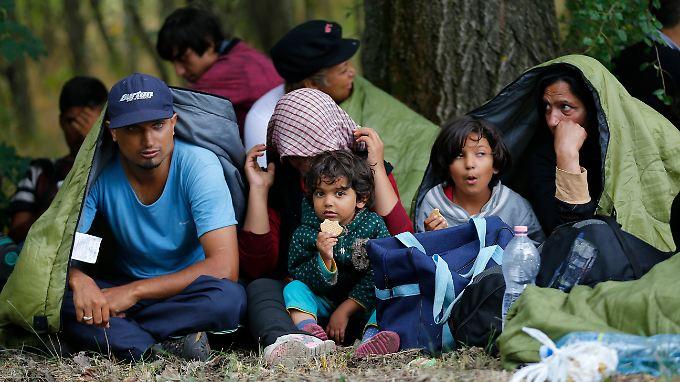 Miganten unterschiedlicher Herkunft warten an der ungarisch-serbischen Grenze. Durch die Balkan-Länder verlaufen auch Fluchtrouten aus dem Nahen Osten.