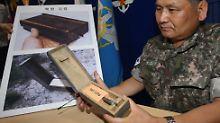 Eine solche Landmine hat zwei südkoreanische Soldaten schwer verletzt.