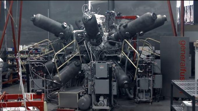 Wie aus einem Science-Fiction-Film: In einem Reaktor, der diesem Test-Modell ähnelt, soll heißes Plasma fusionieren - und Energie erzeugen.