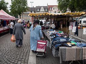 Markt auf dem August-Bebel-Platz