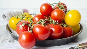 Tomaten gibt es in vielen verschiedenen Züchtungen.