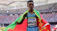 """""""Ich bin stolz auf diesen Sieg"""": Ghirmay Ghebreslassie."""