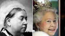 Victoria und Eliabeth II. kommen zusammen auf eine Regentschaftszeit von mehr als 127 Jahren.