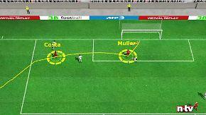 Costa mit genialer Vorarbeit: Bayerns 1:0 gegen Bayer in der 3D-Analyse