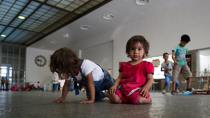 Flüchtlinge am Hauptbahnhof in München.