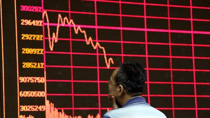 Im Zuge des Börsencrashs wurden in China Milliarden vernichtet.