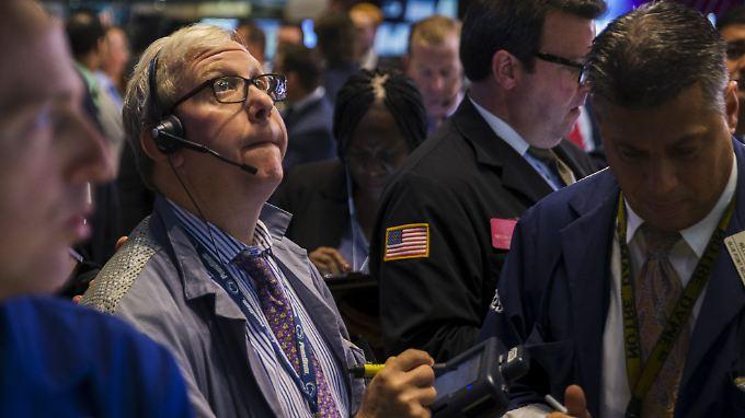 Die Kurse im Blick: Händler an der Wall Street.