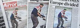 Das Schicksal des Flüchtlingskindes beschäftigt viele Menschen - auch die britische Presse.