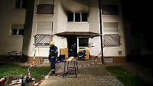 Hausbewohner in Lebensgefahr: Brand zerstört Heppenheimer Flüchtlingsheim