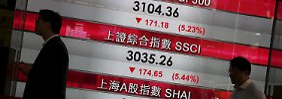 Börsen-Crash auf Raten. Hier die Anzeige am 25. August.