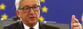 """Juncker-Rede zur Flüchtlingspolitk: """"Warschau und Prag sollten sich erinnern"""""""