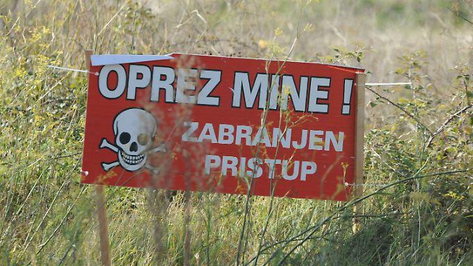 Die Kroaten kennen das Problem der Landminen. Ausländer sollten sich informieren.