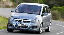 Der Opel Zafira B bietet eher Hausmannskost als Delikatessen.