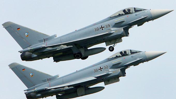 Eurofighter bei einer Übung.