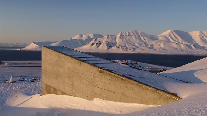 Der Eingang zum Global Seed Vault auf Spitzbergen.