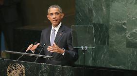 Obama bei seiner Rede vor der Generalversammlung.