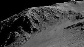Doch Leben auf dem Roten Planeten?: Marssonde liefert Hinweise auf flüssiges Wasser