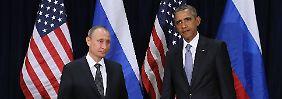 Beziehungen auf dem Tiefpunkt: Die Präsidenten Putin (l.) und Obama bei einem Treffen im Jahr 2015.