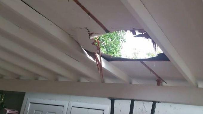 Kaum zu glauben, aber wahr: 12 Kilo Marihuana krachen durchs Dach