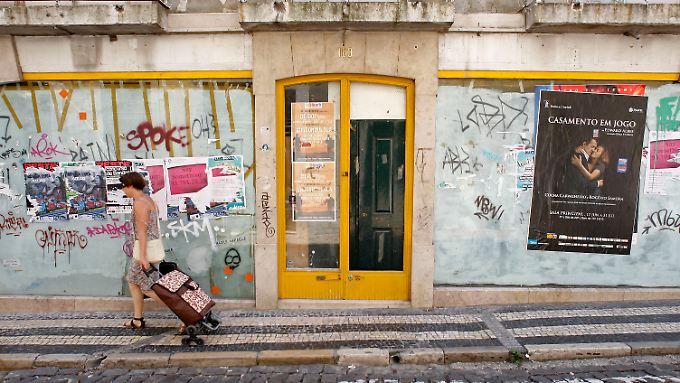 Das Zentrum von Lissabon auf dem Höhepunkt der Eurokrise 2011. Eine Zeit, die Ängste schürte. Im August vor vier Jahren wurden innerhalb eines Monats vier Billionen Euro Kapital an den Finanzmärkten vernichtet.