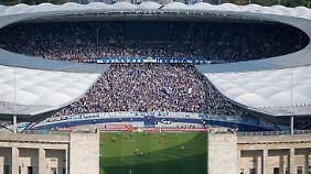 Im Berliner Olympiastadion findet am Samstag das Fußball-Länderspiel Deutschland gegen England statt.