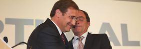 Pedro Passos Coelho und Paulo Portas nach der Wahl.