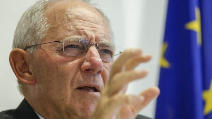 Finanzminister Wolfgang Schäuble spricht von einer schnellen Lösung in kurzer Zeit.