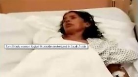 Kasturi Munirathman wird im Krankenhaus behandelt.