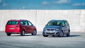 Der feine Unterschied: Seat Alhambra und VW Sharan sind beinahe Zwillinge