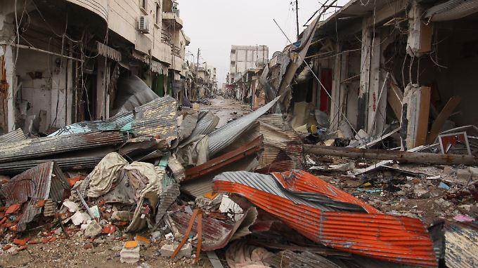 Zerstörung in Kobane. Die Kurden haben die syrische Stadt zurückerobert.