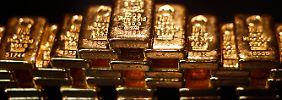 Sicherer Hafen gesucht: Im Crash beginnt Gold zu glänzen
