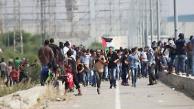 Am Erez-Übergang kam es zu Zusammenstößen zwischen Palästinensern und der israelischen Polizei.