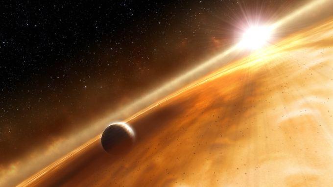 Die Möglichkeit, dass gewaltige Staubscheiben die Helligkeitsschwankungen verursachen, halten Astronomen für ausgeschlossen.