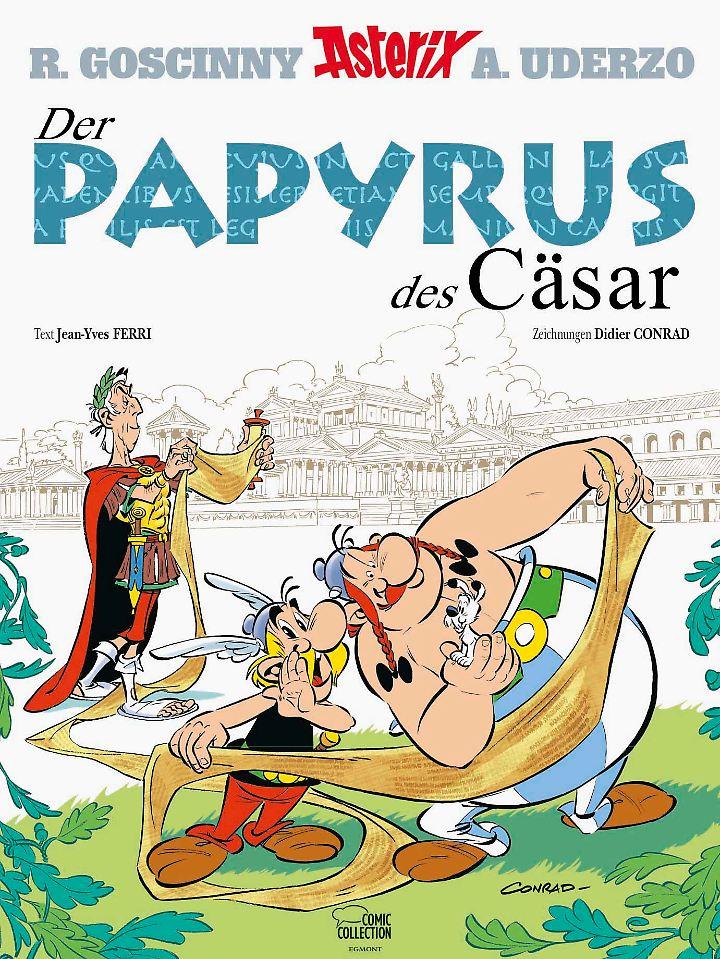 """Asterix Band 36 """"Der Papyrus des Cäsar"""" erscheint als Hardcover in der Egmont Comic Collection und als Softcover bei Egmont Ehapa Media."""