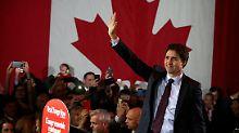 Schlappe für Konservative: Kanadier wählen jungen Liberalen