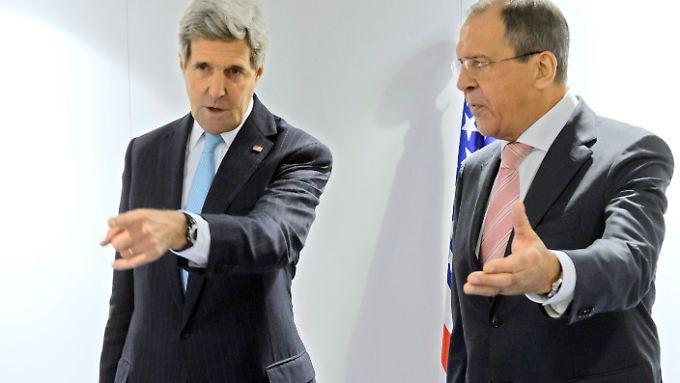 Die Außenminister Sergej Lawrow und John Kerry wollen sich erneut treffen um über Syrien zu sprechen.