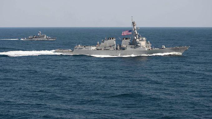 Die Spannungen im Südchinesischen Meer nehmen weiter zu. Die USA entsenden ein Kriegsschiff.