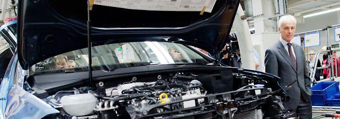 Muss am Mittwoch aller Voraussicht nach den ersten Quartalsverlust seit Jahren verkünden: VW-Chef Matthias Müller.