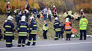 Fünfjähriger stirbt auf der A4: Der Busunfall bei Erfurt