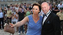 Christine und Hubert Haderthauer 2012 bei einem Staatsempfang in Bayreuth.