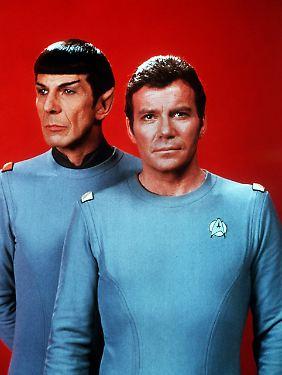 Unendliche Weiten - für uns auf TV-Größe geschrumpft: die Kollegen Spock und Kirk.