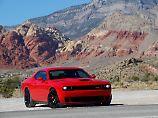 Der Dodge Challenger Hellcat geht für wenig Geld an den Start, ist aber in Deutschland nur schwer zu bekommen.