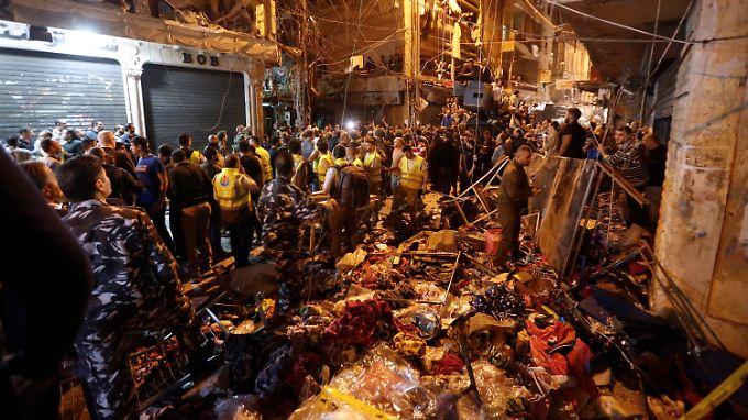Viele Tote nach Anschlägen: IS bekennt sich zu Selbstmordattentaten in Beirut