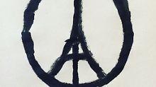 Erinnerung an die Opfer von Paris: Friedenszeichen trifft Eiffelturm