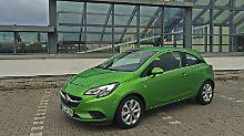 """Der Opel Corsa ist ein schnittiger Kleinwagen, ob man ihn in """"Apfel Grün"""" fahren muss ist einfach Geschmackssache."""