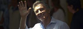 Mauricio Macri nach der Stimmabgabe